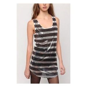 Silence + Noise Sequin Striped Tank
